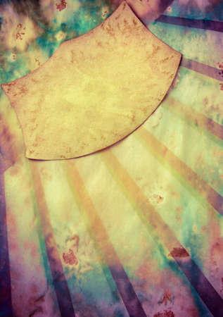 fondo de circo: Rayo de sol retro con fondo de papel grunge marco para el texto