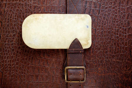 Vintage crocodile leather textured background with old paper blank photo