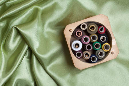 Threads on fabric Stock Photo - 13725605