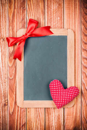 Valentine card with heart and blackboard photo