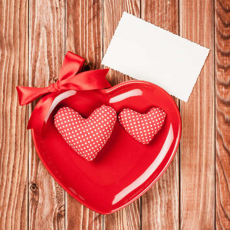 Valentine card with heart creative smile photo