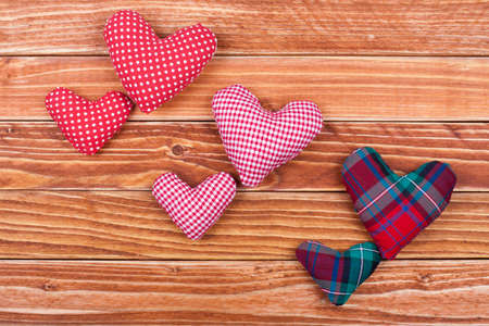 Valentine handmade hearts Stock Photo - 17836065
