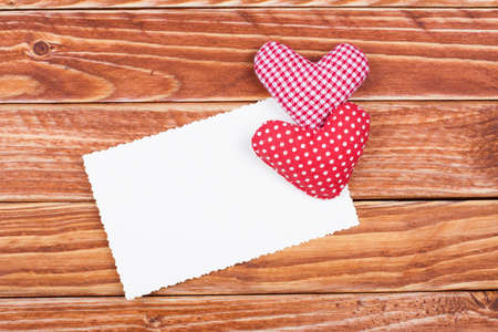 Valentine card with two heart photo