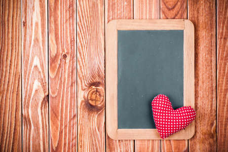 Valentine background with heart and blackboard photo