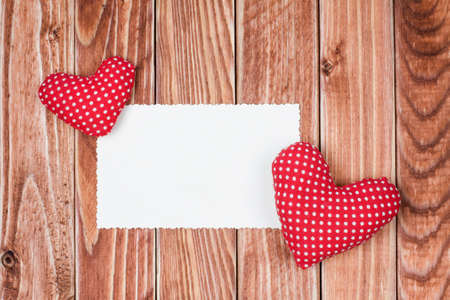 Valentine postcard background with hearts photo