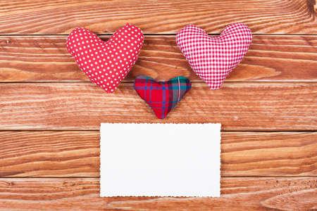Valentine card with hearts creative design Stock Photo - 17836184