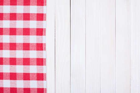 Tischdecke Textiltextur auf Holztisch Hintergrund