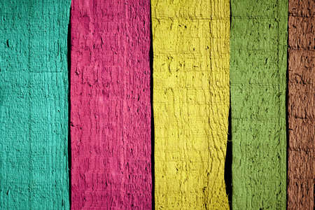 Color painted wooden planks background Imagens - 18724787