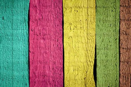 Kleuren geschilderde houten planken achtergrond
