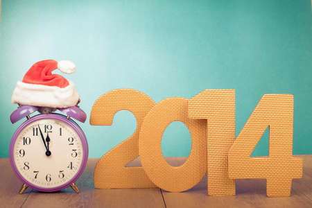 Retro clock and New Year date conceptual photo photo