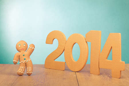Gingerbread Man and new year date conceptual photo