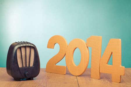 Retro radio and 2014 New Year date