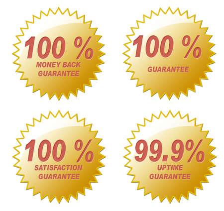 create: Quattro diverse 100% di garanzia sigilli d'oro. Creato nel PS.