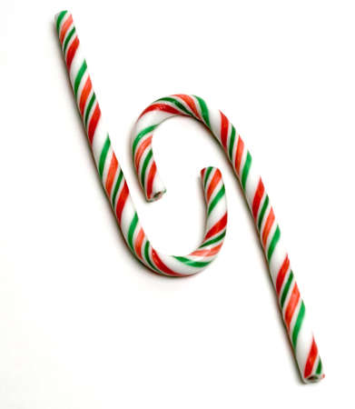 Two candy canes in interesting arrangment