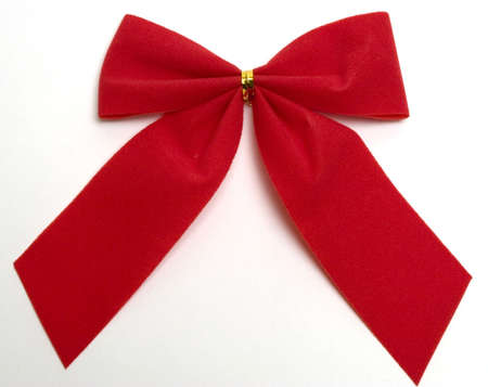 Red Christmas bow, isolated