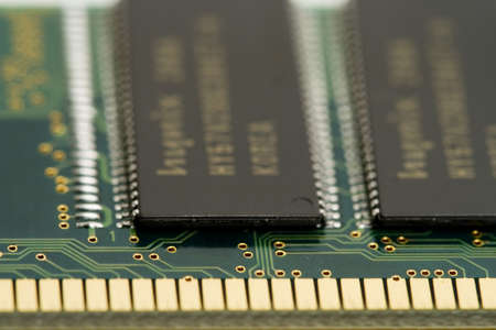 Macro shot of memory module