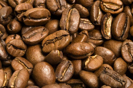 Closeup shots of many coffee beans. Great for background! Stock Photo