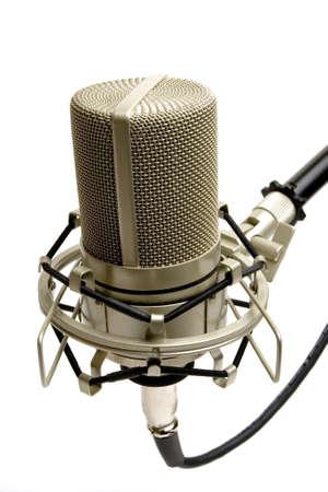 cardioid: Micr�fono del estudio (vista lateral)