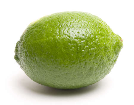 Fresh whole lime. Clean and simple. Clipping path included.