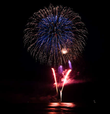 independency: Colorful Fireworks over water