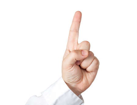 Holding index finger