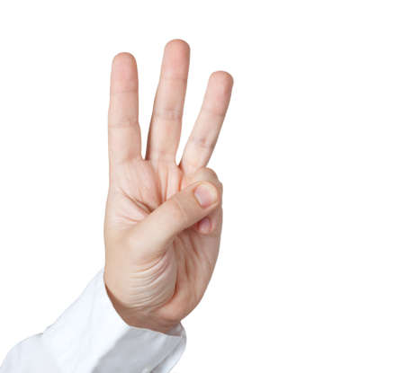 Man holding three fingers Stock Photo - 5271835