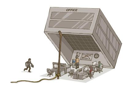 박스 오피스는 갇힌 노동자와 함정입니다 스톡 콘텐츠 - 98778618