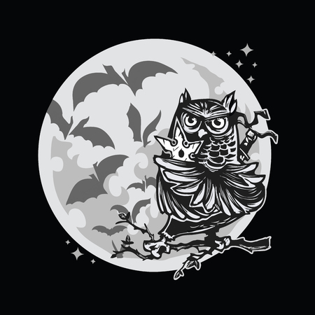 moon ninja owl black