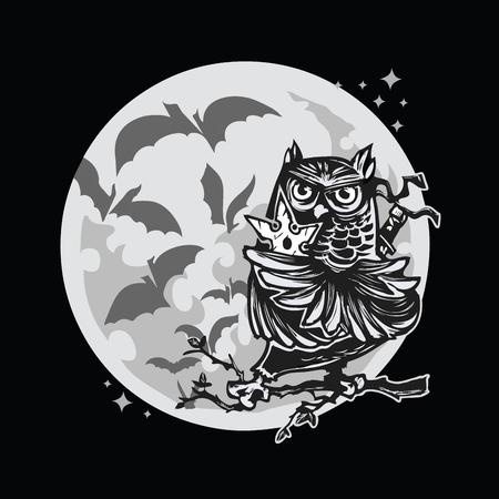 moon ninja owl black