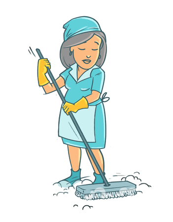 Cleaner woman