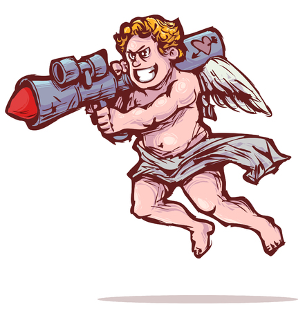 cupid with bazooka