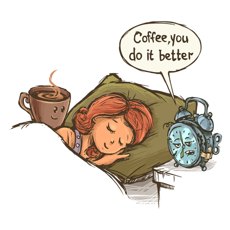 Coffee better ring clock