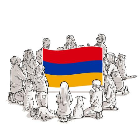 People pray for Armenia