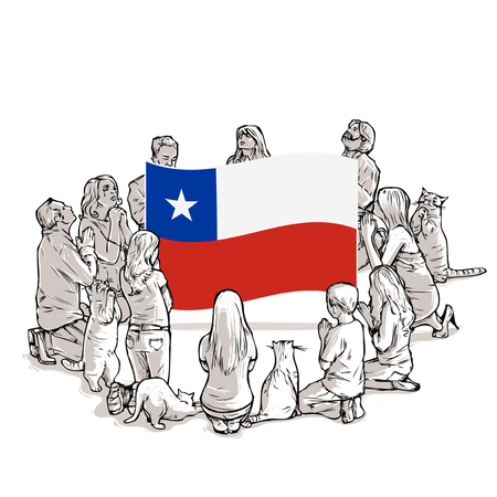 People pray for Chile