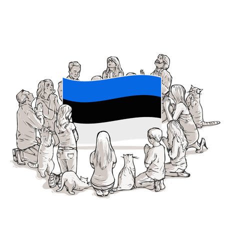 People pray for Estonia