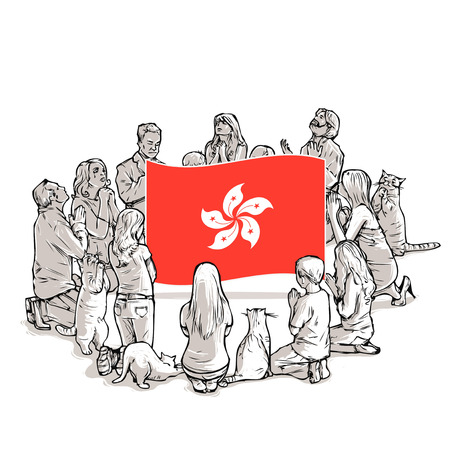 People pray for Hong Kong