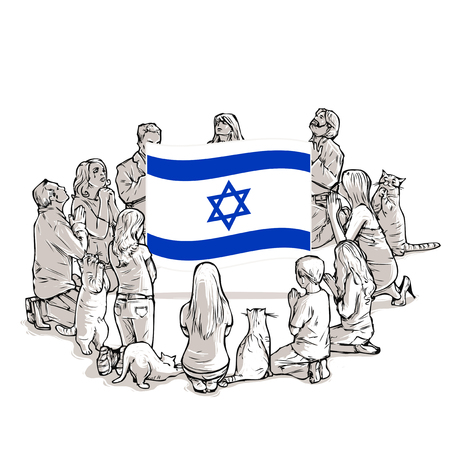People pray for Israel