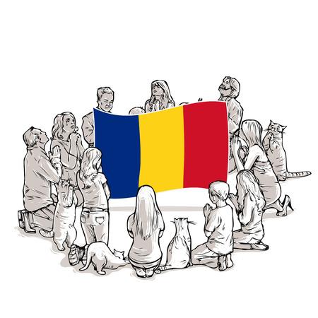 pray for Romania Illustration