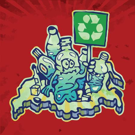 bottle on russia garbage