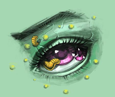zombie realistic eye sketch
