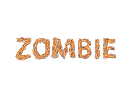 zombie word Maggot Text Effect