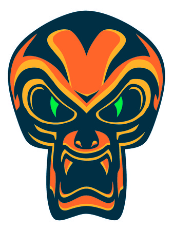 Scream Mask skull color Illustration