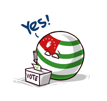 Abkhazia voting yes