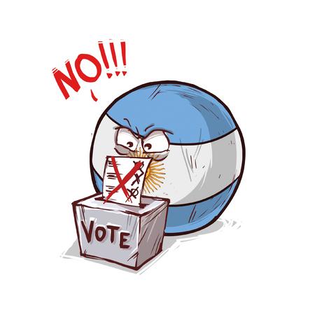 argentina voting no Illusztráció