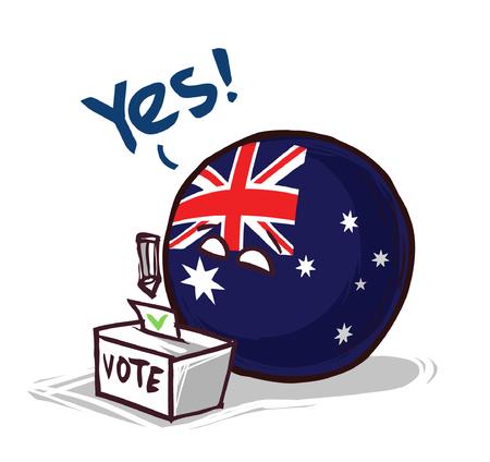 australia voting yes concept illustration