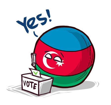 Azerbaijan voting yes concept illustration Illustration