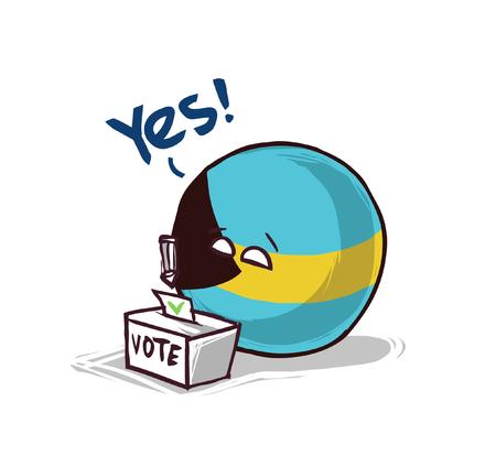 Bahamas voting yes concept illustration