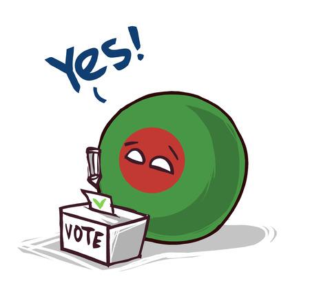 Bangladesh voting yes concept illustration