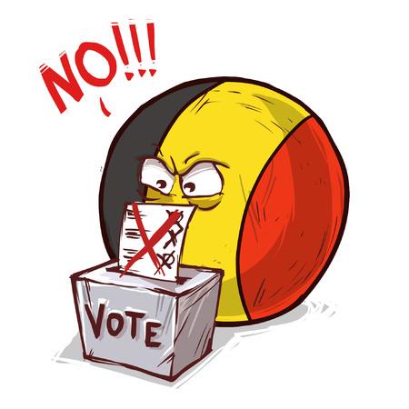 Belgium voting no