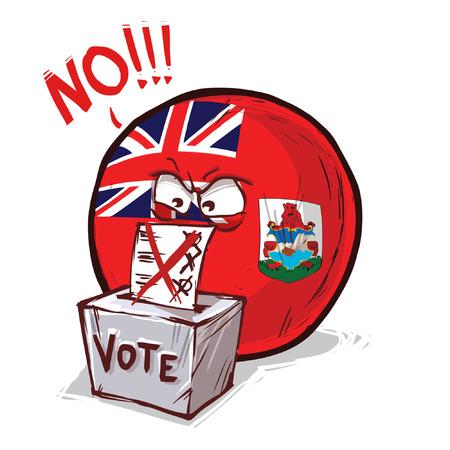 Bermuda Islands voting no Illusztráció